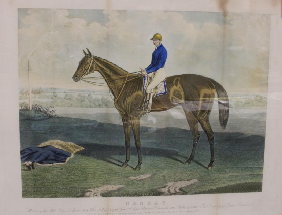 LOT OF (5) 19TH CENTURY HORSE RACING PRINTS - 5