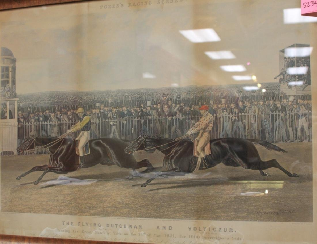 LOT OF (5) 19TH CENTURY HORSE RACING PRINTS - 6