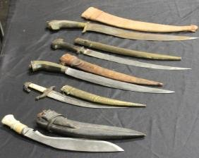 LOT OF (5) VINTAGE KNIVES, MIDDLE AND SOUTH EASTEN