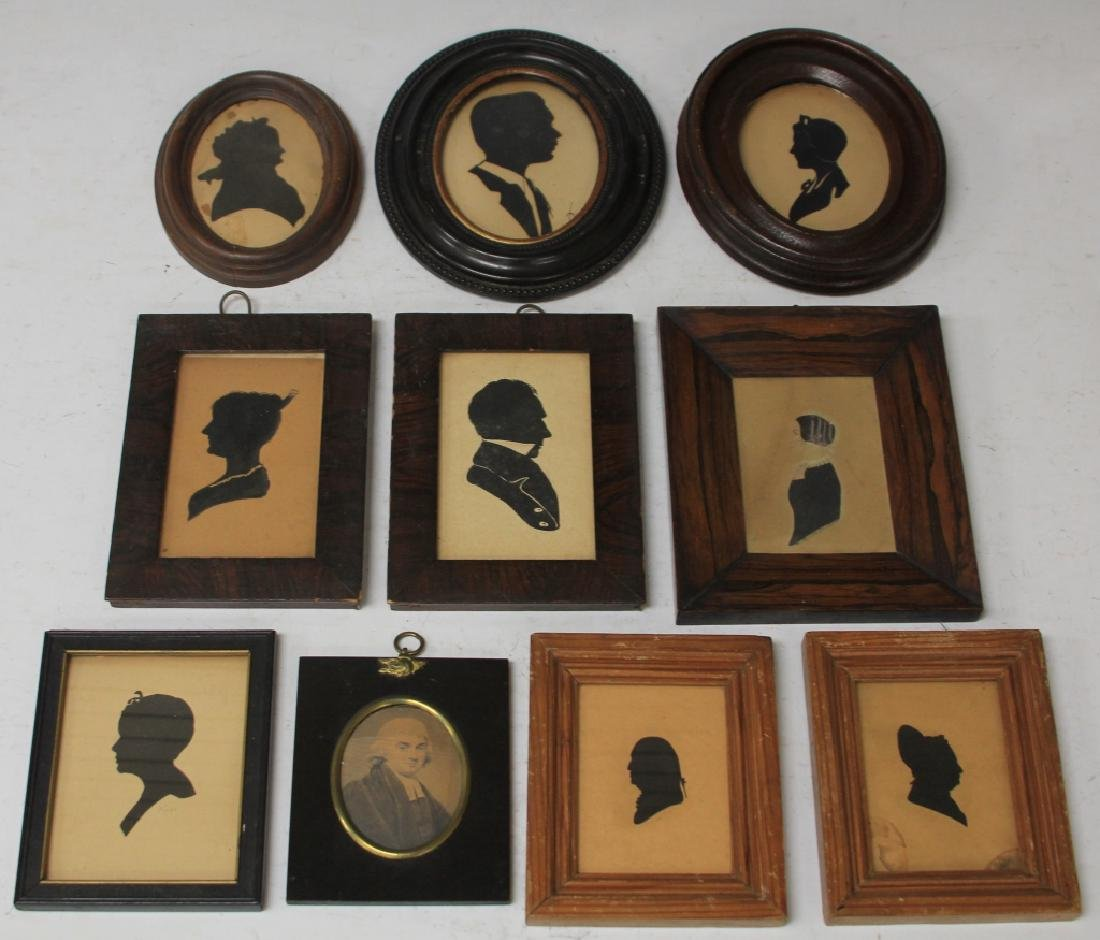 LOT OF (10) VINTAGE SILHOUETTES