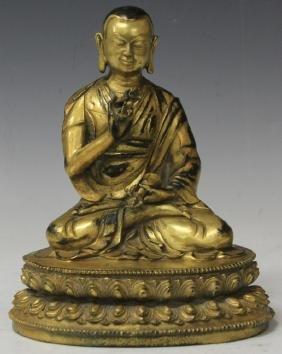 CHINESE CAST METAL BUDDHA