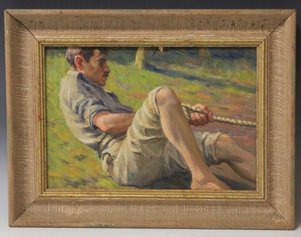 LOUIS AZEMA (1876-1963), OIL ON BOARD