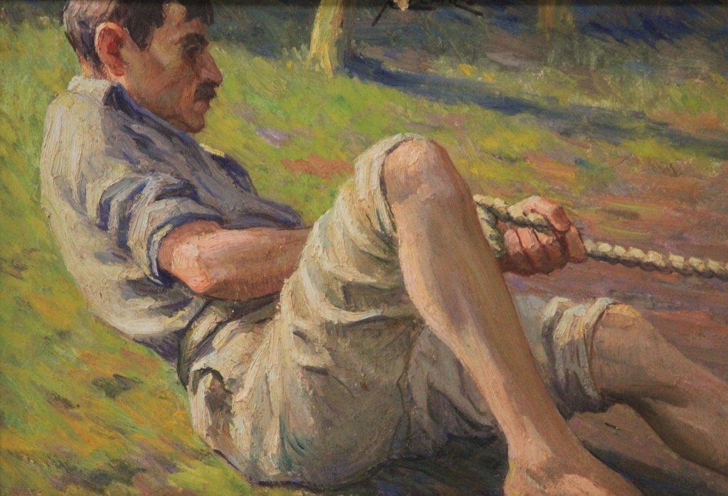 LOUIS AZEMA (1876-1963), OIL ON BOARD - 2