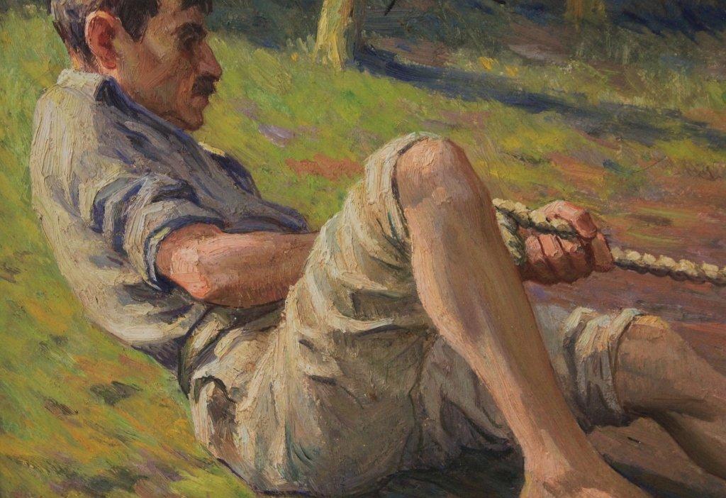 LOUIS AZEMA (1876-1963), OIL ON BOARD - 4