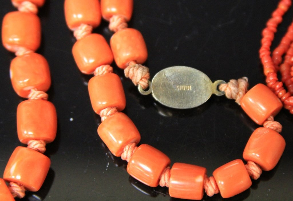 LOT OF (4) ESTATE JEWELRY, SOME CORAL - 3