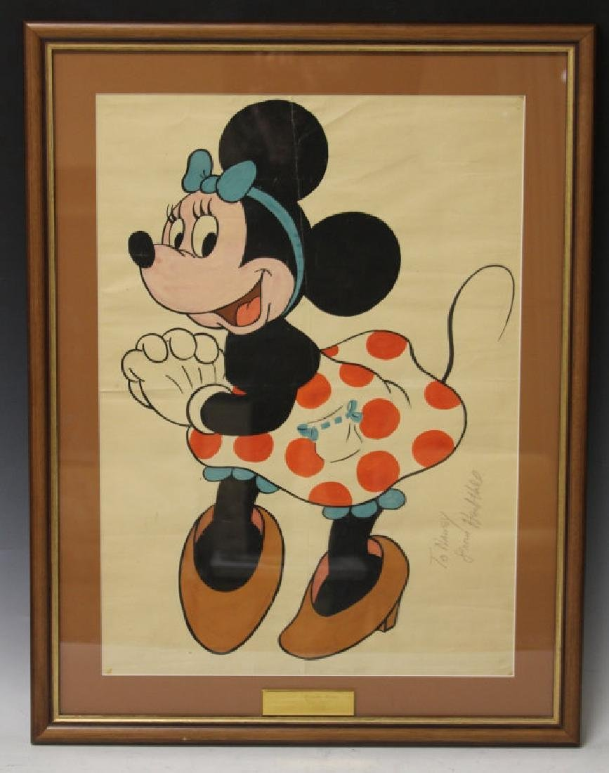 HERB HILL, PENCIL SIGNED DISNEY STUDIOS PAINTING