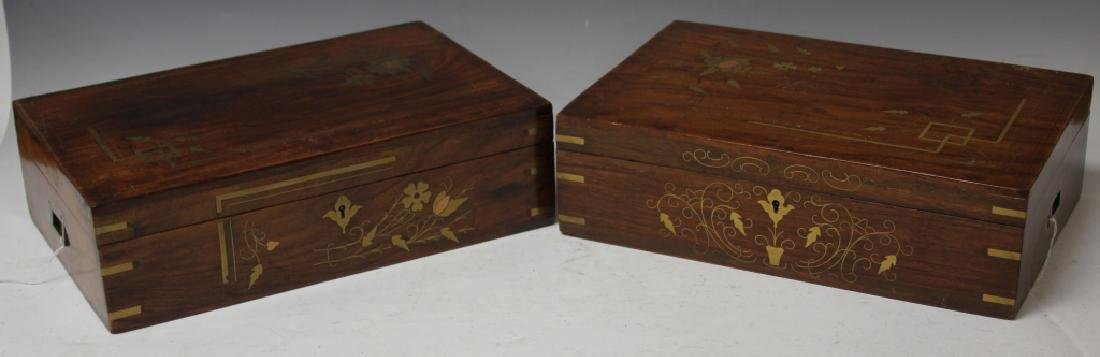 PAIR OF 19TH CENTURY INLAID DOCUMENT BOXES