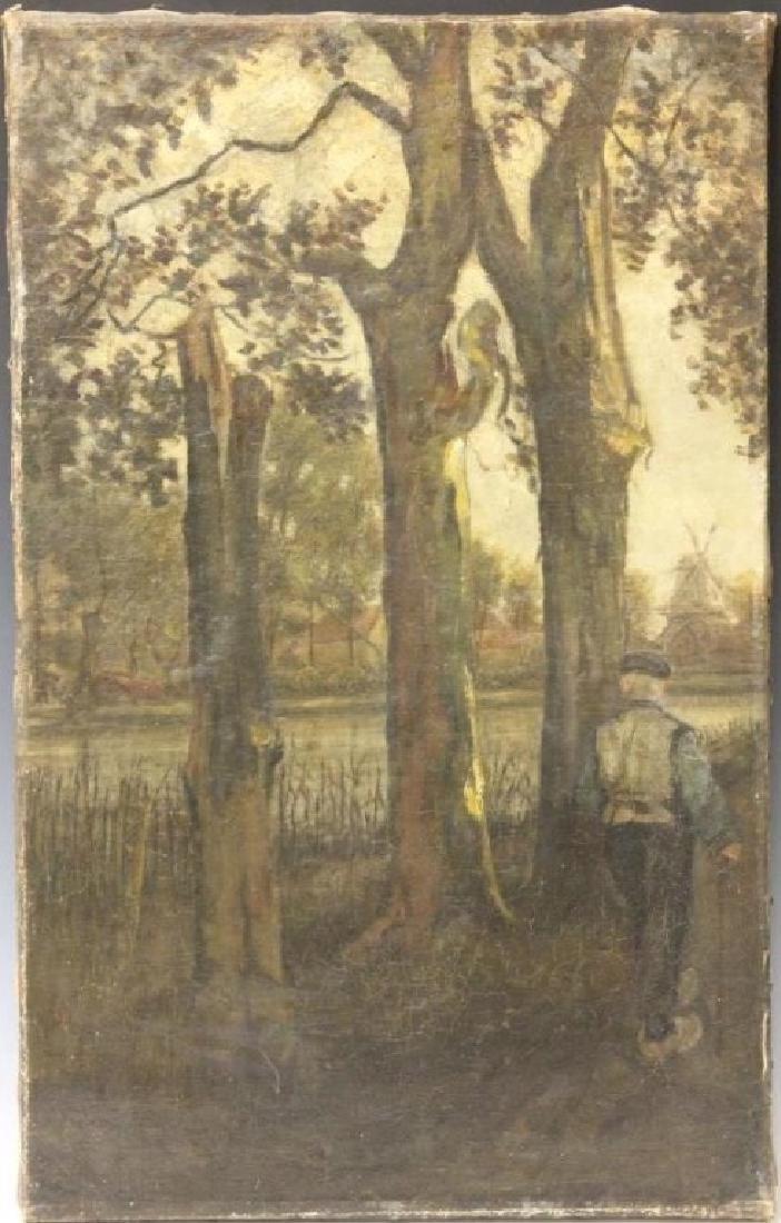 JOSEF ISRAELS (1824-1911), OIL ON CANVAS
