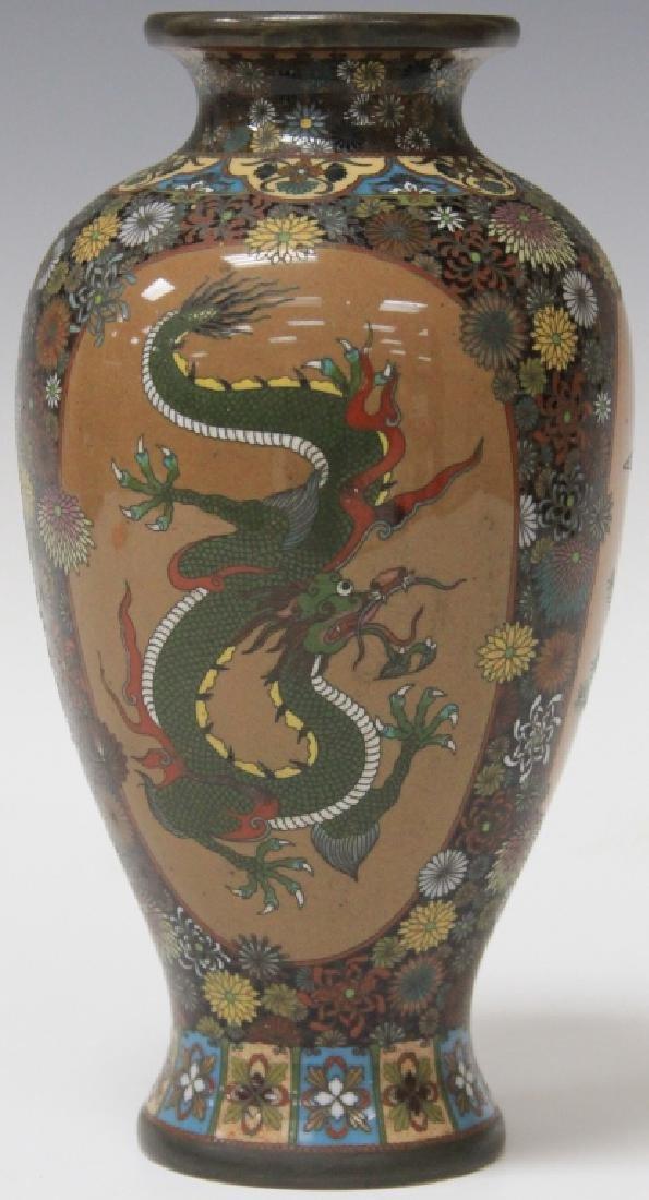 JAPANESE CLOISONNE VASE, 19TH CENTURY