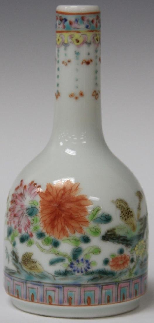VINTAGE CHINESE PAINTED PORCELAIN VASE WITH MARK