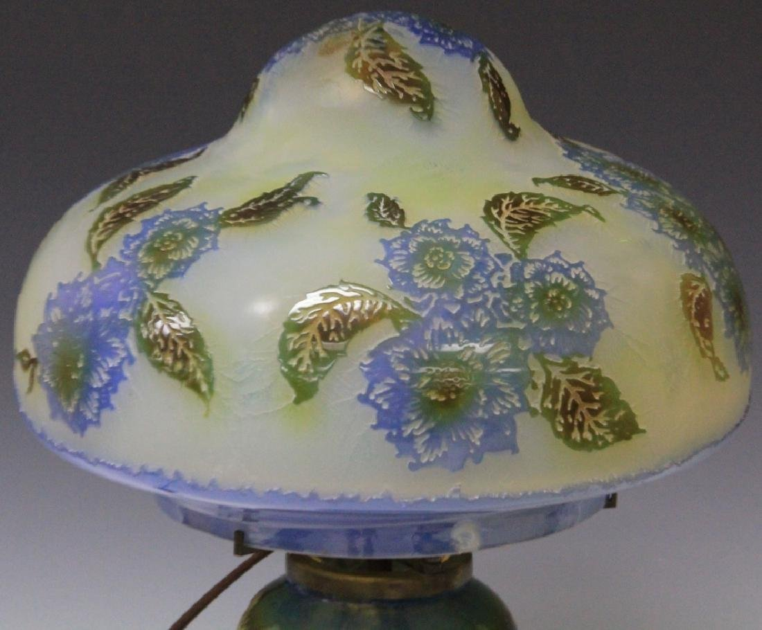 """LEMAITRE CAMEO GLASS LAMP, 20"""" H - 2"""