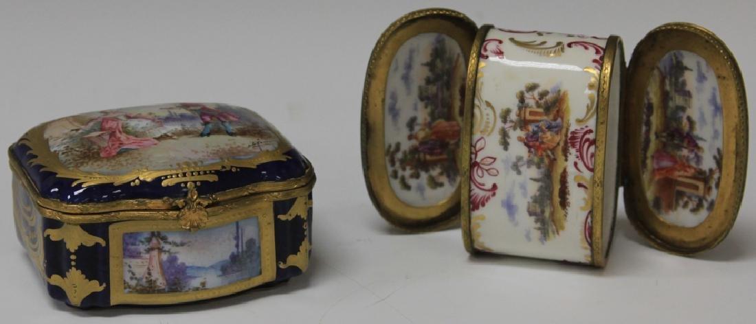 LOT OF (2) 19TH CENTURY PORCELAIN DRESSER BOXES