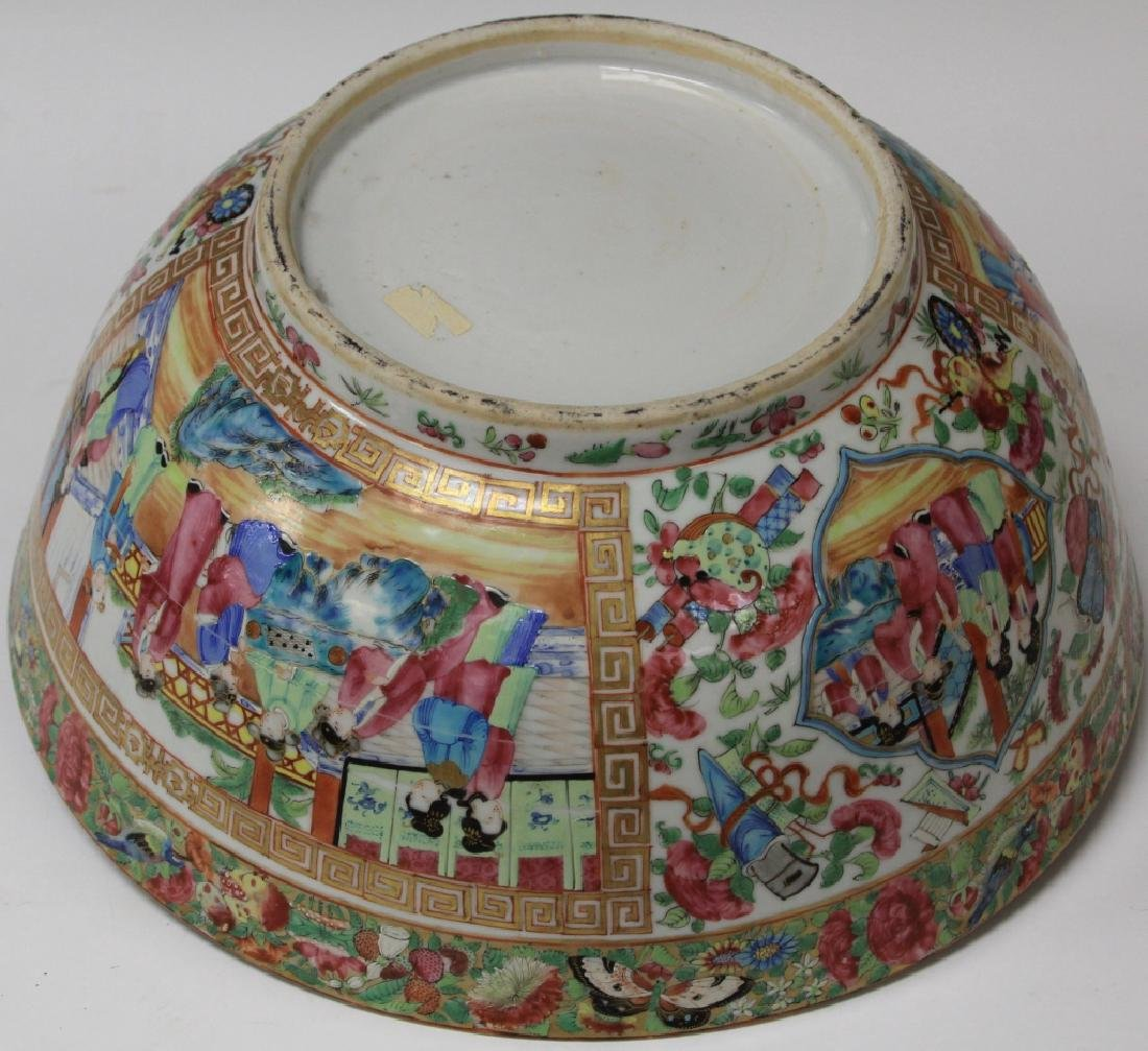 """EARLY CHINESE PORCELAIN BOWL,  14"""" D - 4"""