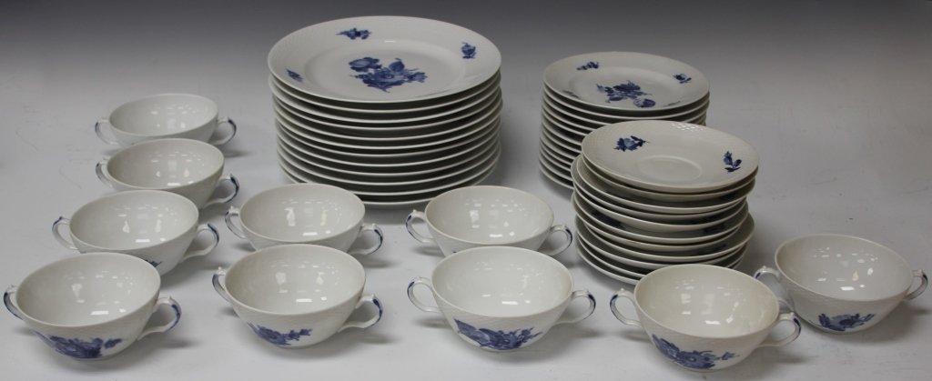 ROYAL COPENHAGEN BLUE AND WHITE DINNER SERVICE