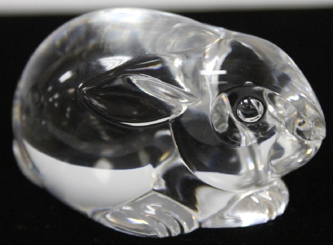 LOT OF (2) STEUBEN GLASS HAND COOLER FIGURINES - 3