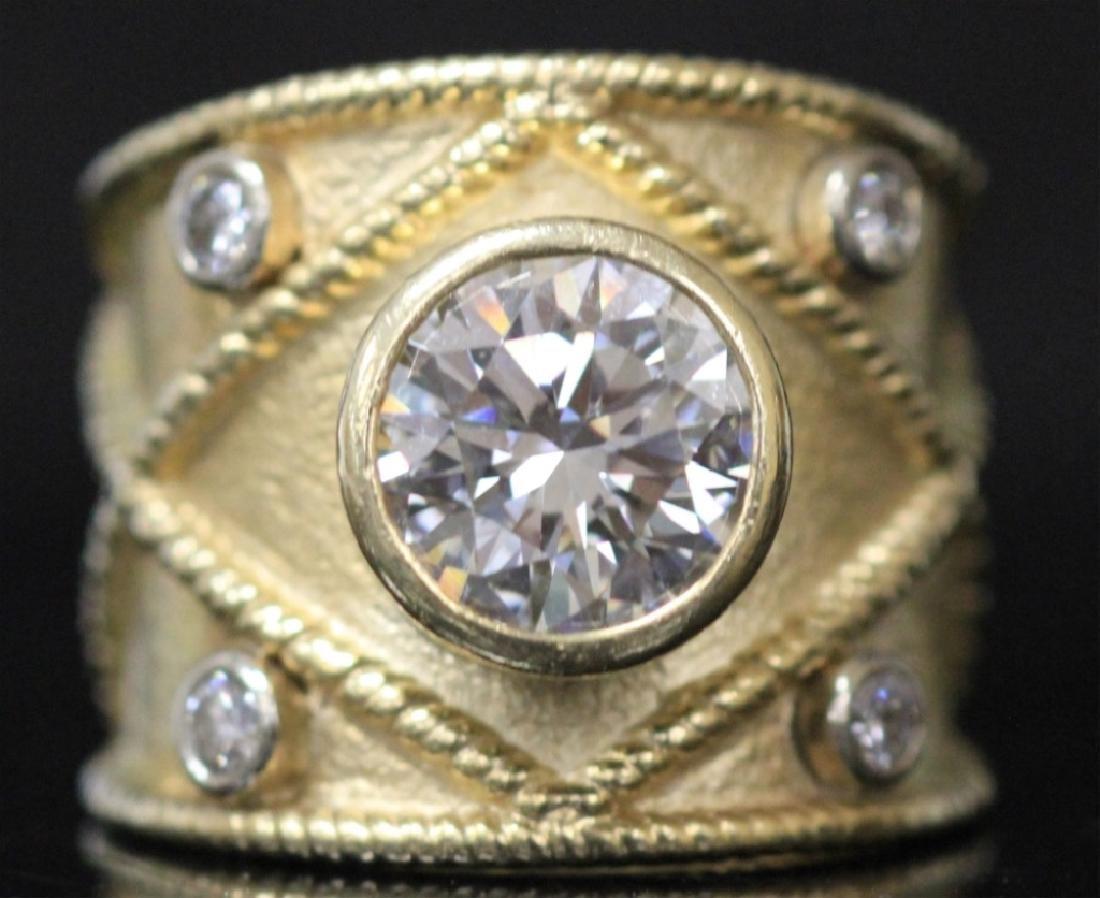 LADY'S 2.05 CT ROUND BRILLIANT DIAMOND RING W/ GIA