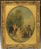 GEORGE HENRY ANDREWS, OIL ON CANVAS WITH PLAQUE