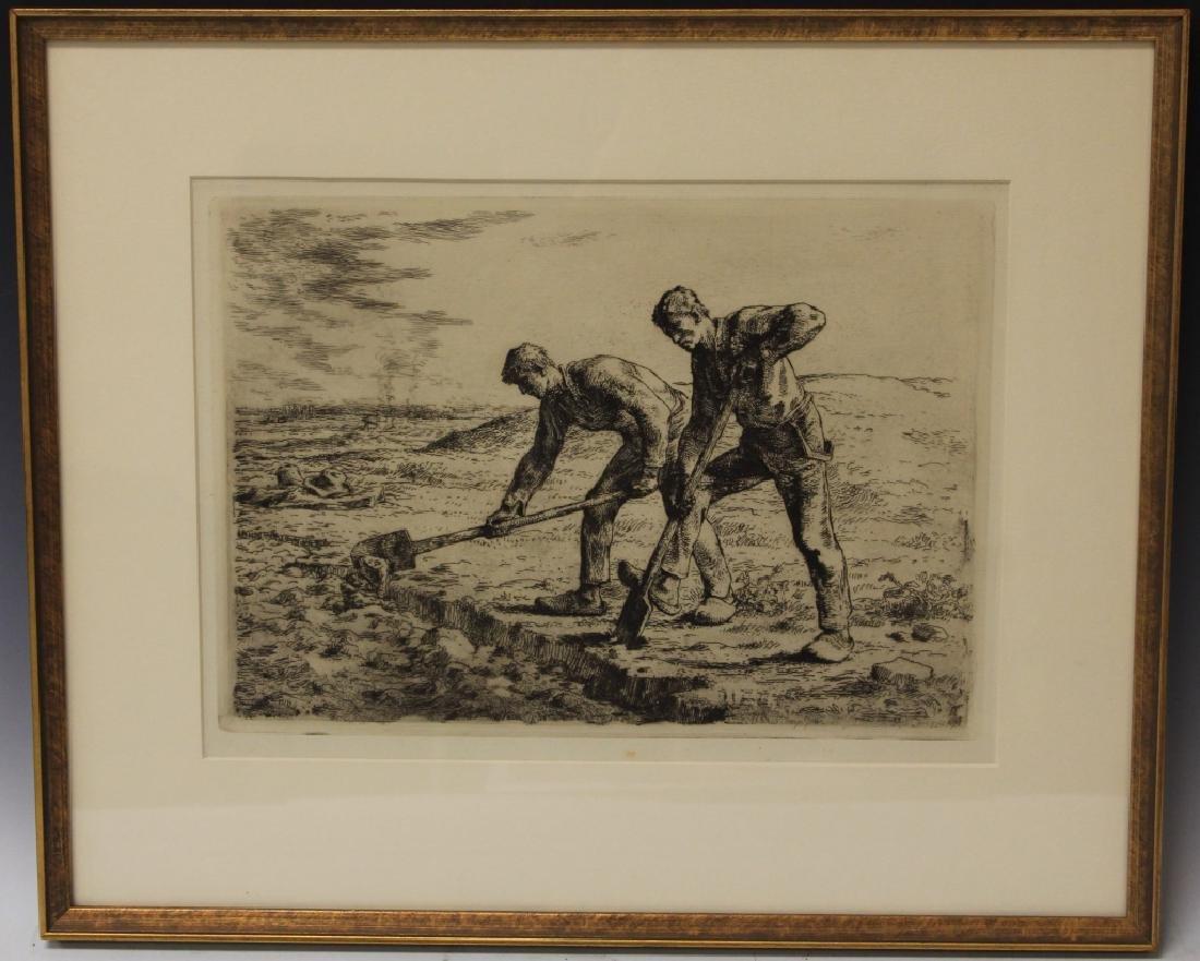 JEAN FRANCOIS MILLET (1814-1875), FRAMED ETCHING
