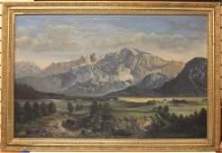 19TH CENTURY OIL ON CANVAS LANDSCAPE