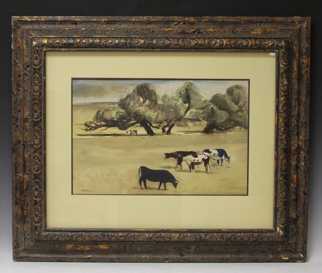 PETER HURD (1904-1984), FRAMED WATERCOLOR