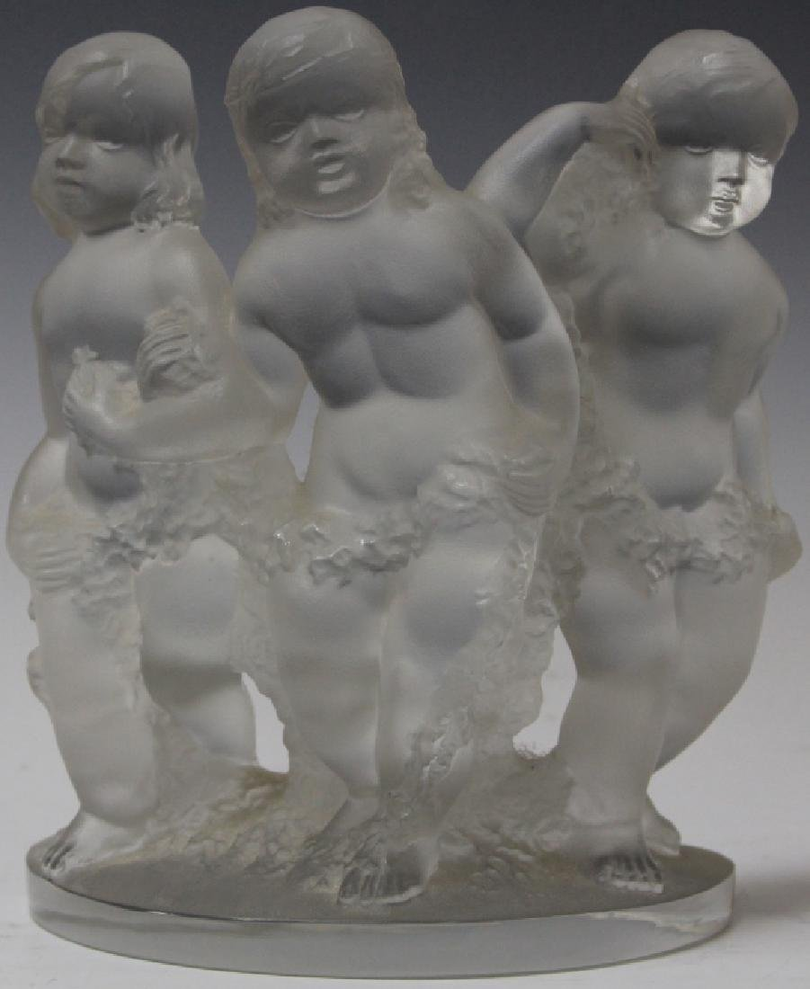 """LALIQUE FROSTED GLASS FIGURE, 8"""" H"""