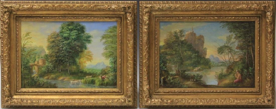 PAIR OF 19TH CENTURY OIL ON BOARDS, SIGNED MARTIN