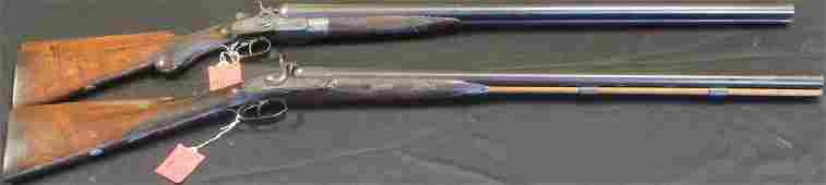 LOT OF (2) ANTIQUE DOUBLE BARREL MUSKETS