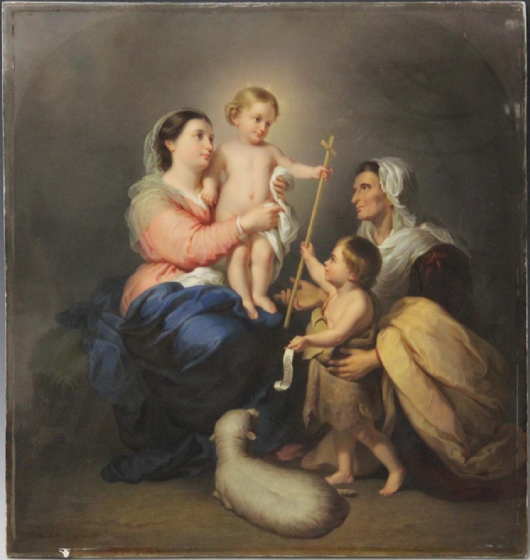 19TH CENTURY OIL ON PORCELAIN, ARTIST SIGNED