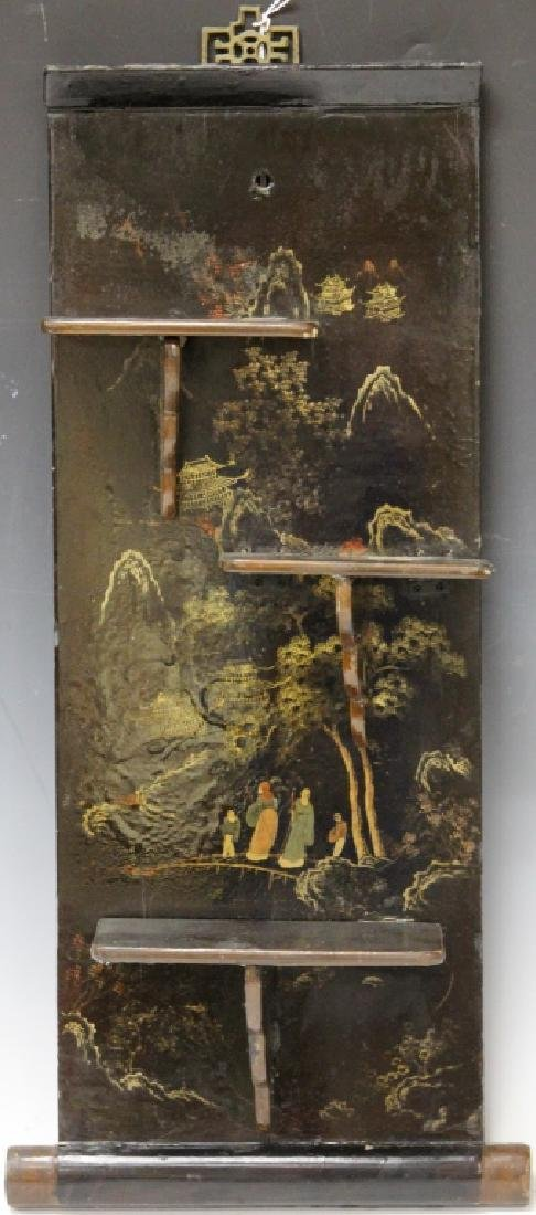 CHINESE 19TH CENTURY PAINTED  WALL DISPLAY