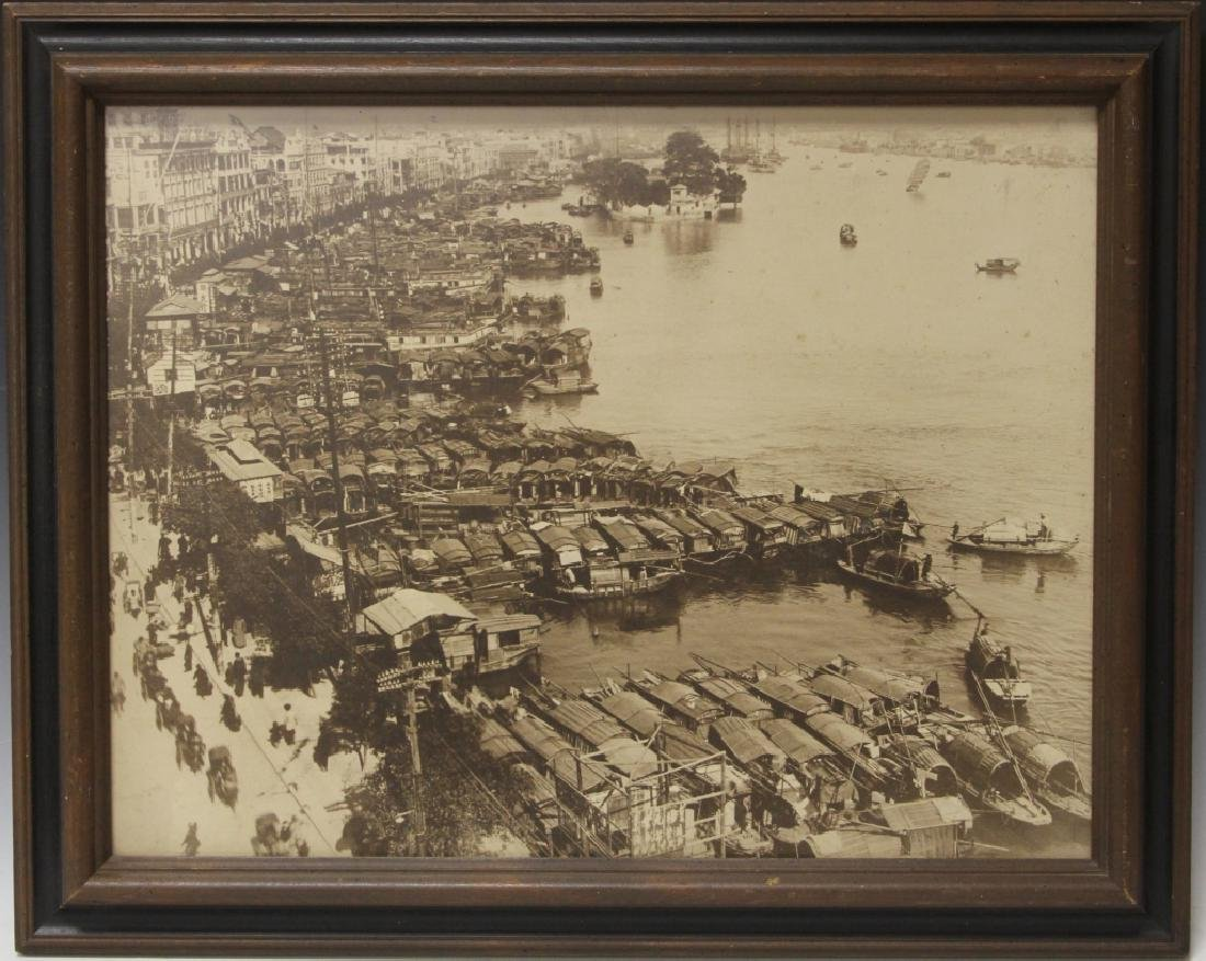 FRAMED VINTAGE PHOTOGRAPH OF CANTON, CHINA