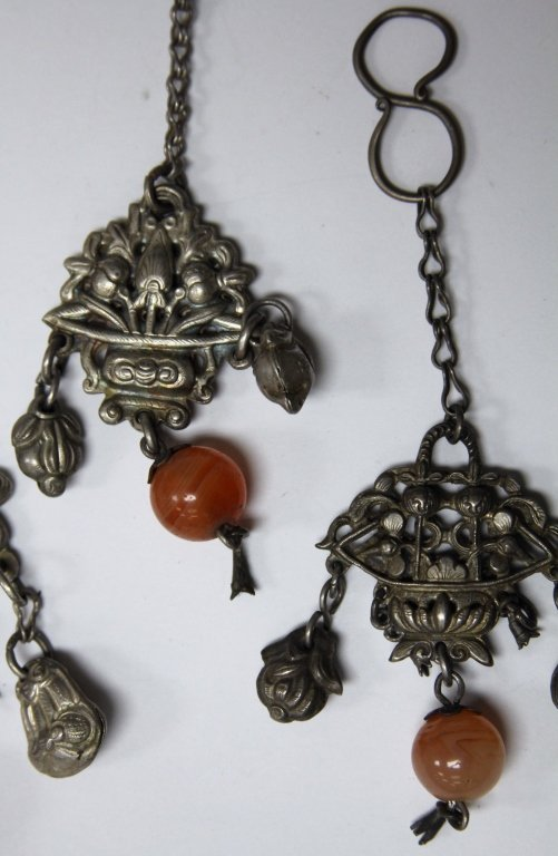 LOT OF (5) CHINESE SILVER PENDANTS - 3