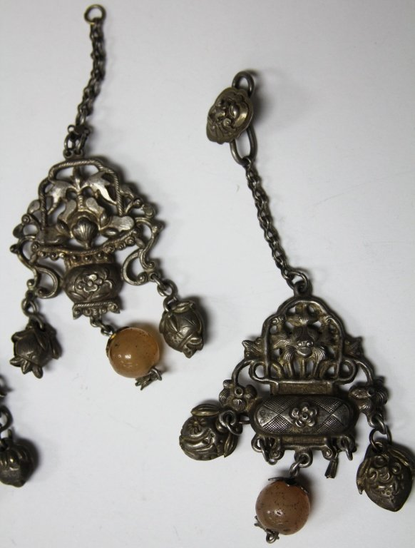 LOT OF (5) CHINESE SILVER PENDANTS - 4