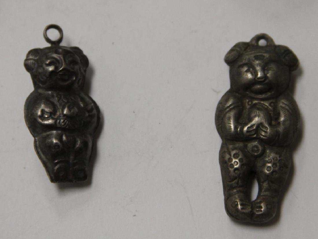 LOT OF (10) CHINESE SILVER PENDANTS - 2
