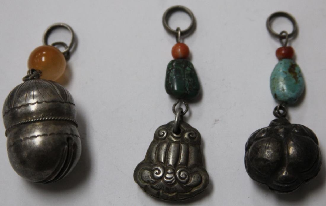 LOT OF (10) CHINESE SILVER PENDANTS - 4