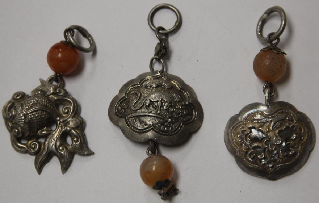 LOT OF (10) CHINESE SILVER PENDANTS - 5