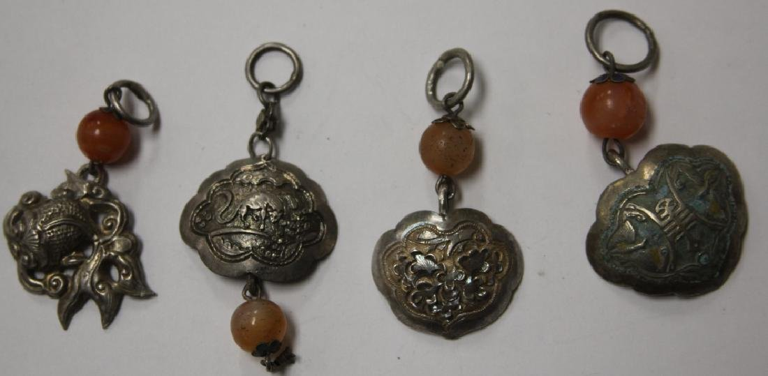 LOT OF (10) CHINESE SILVER PENDANTS - 6