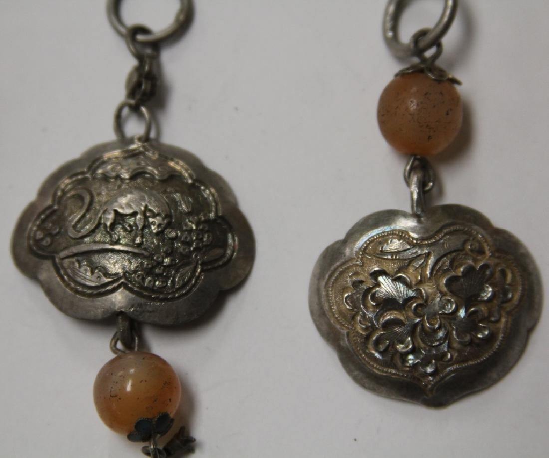 LOT OF (10) CHINESE SILVER PENDANTS - 7