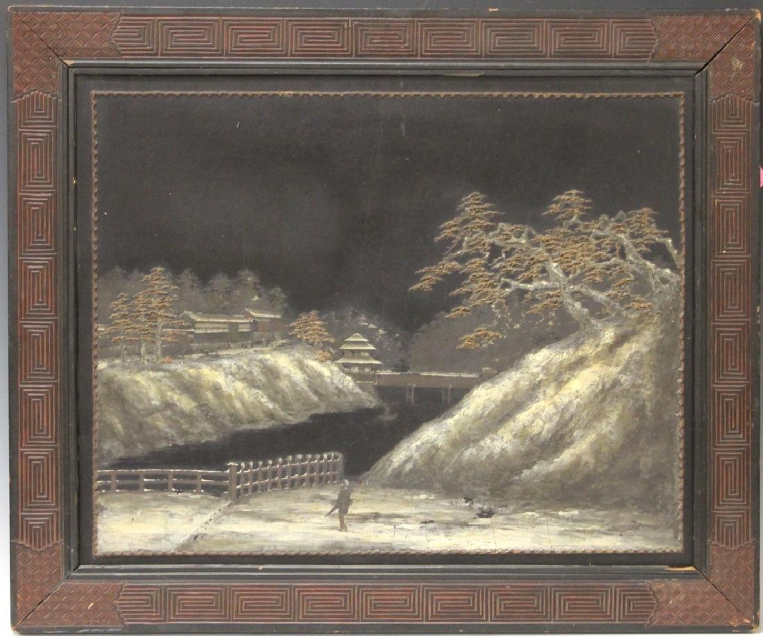 KINICHIRO ISHIKAWA (1871-1945), OIL ON BOARD