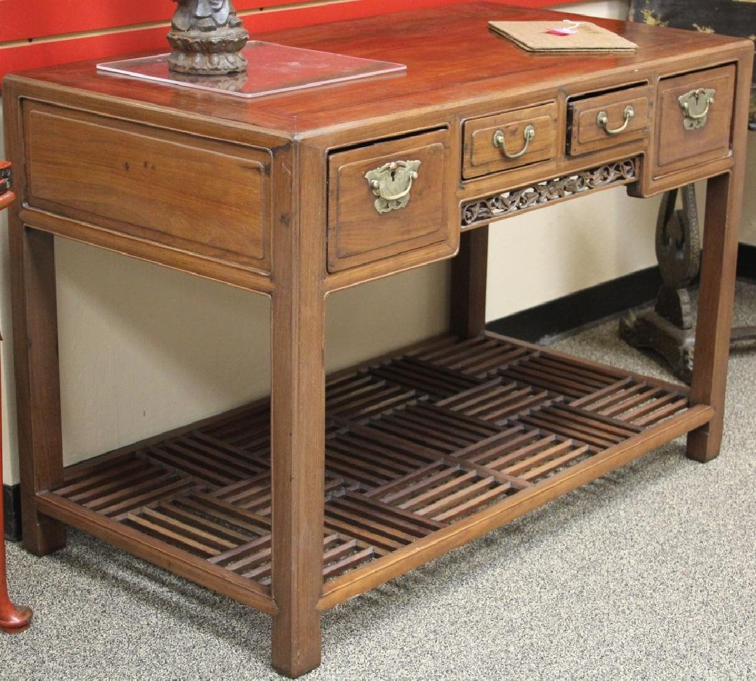EARLY CHINESE CARVED WRITING DESK