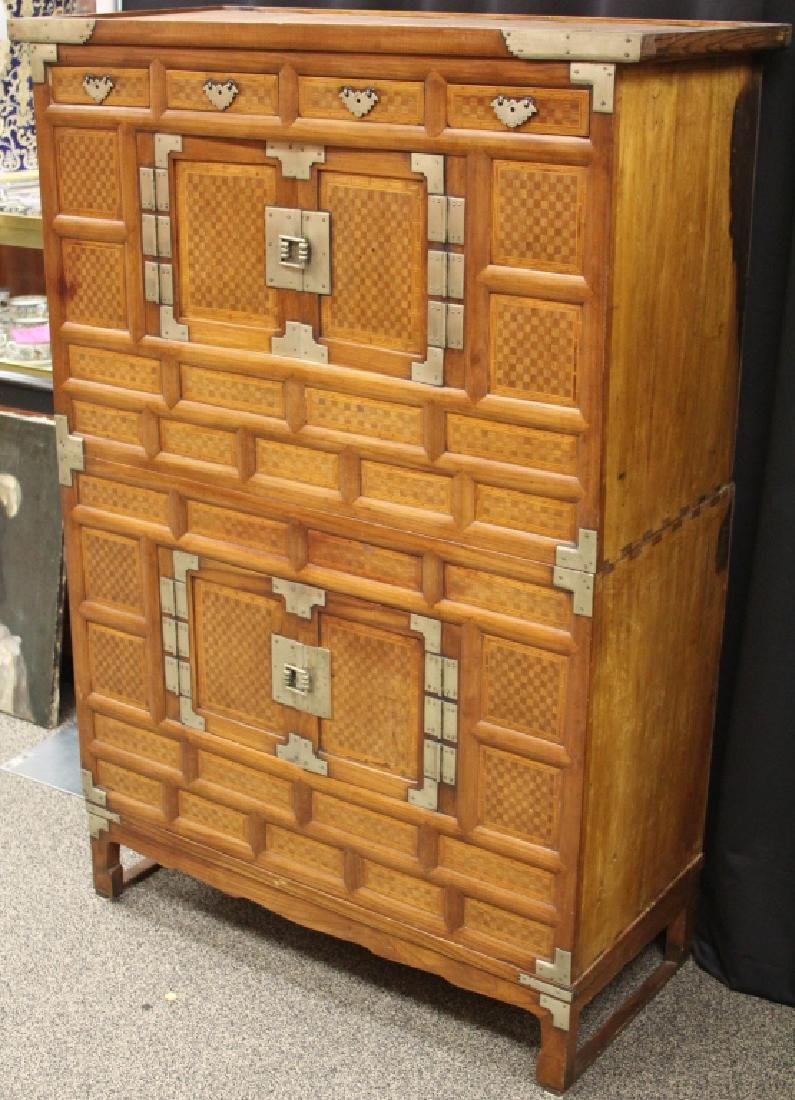 VINTAGE KOREAN THREE PART STACKING CHEST