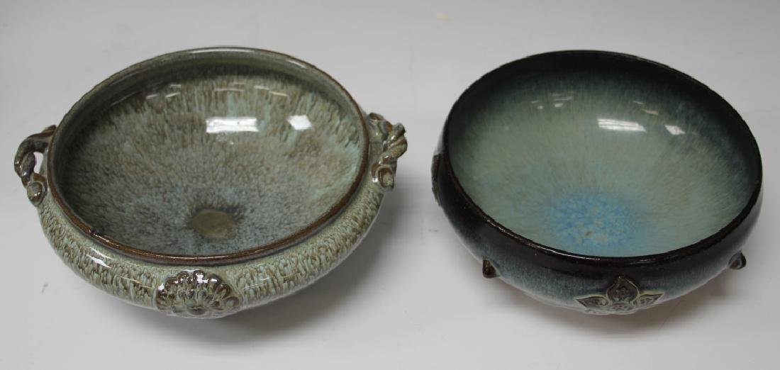 LOT OF (2) JAPANESE FLAMBE POTTERY BOWLS
