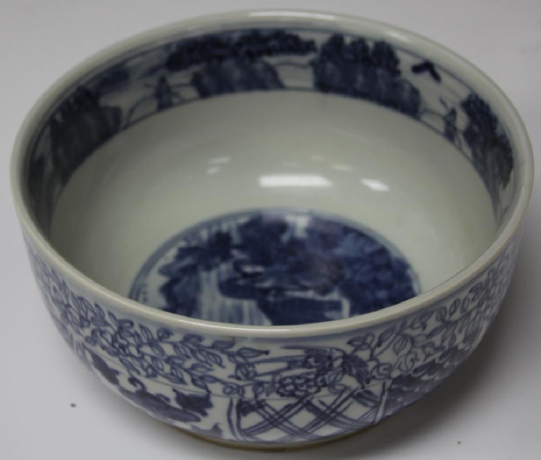 VINTAGE CHINESE BLUE AND WHITE PORCELAIN BOWL