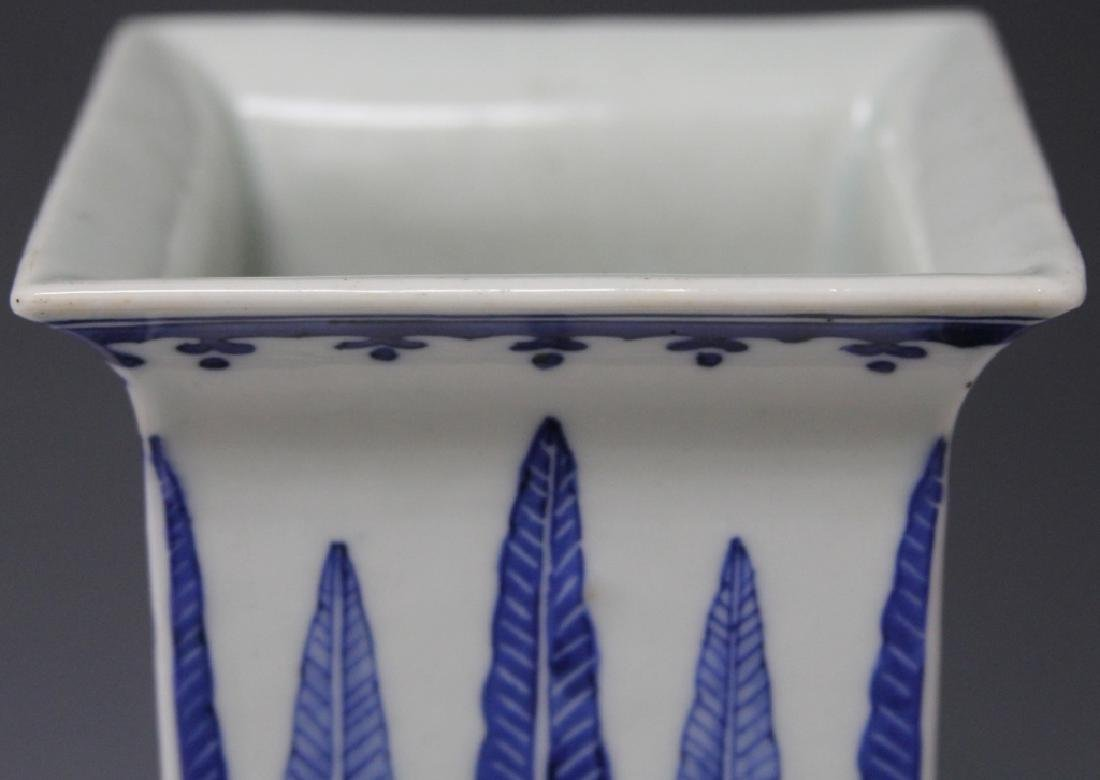 CHINESE REPUBLIC P. BLUE & WHITE PORCELAIN VASE - 7