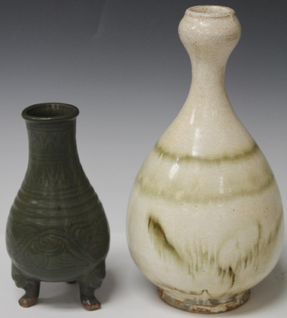 LOT OF (2) VINTAGE CHINESE FLAMBE VASES