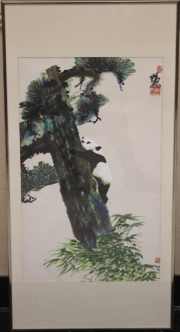 VINTAGE JAPANESE WATERCOLOR, ARTIST SIGNED
