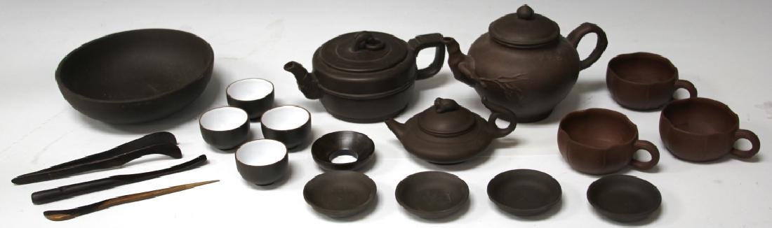 LOT OF (19) VINTAGE CHINESE TEAPOTS, CUPS