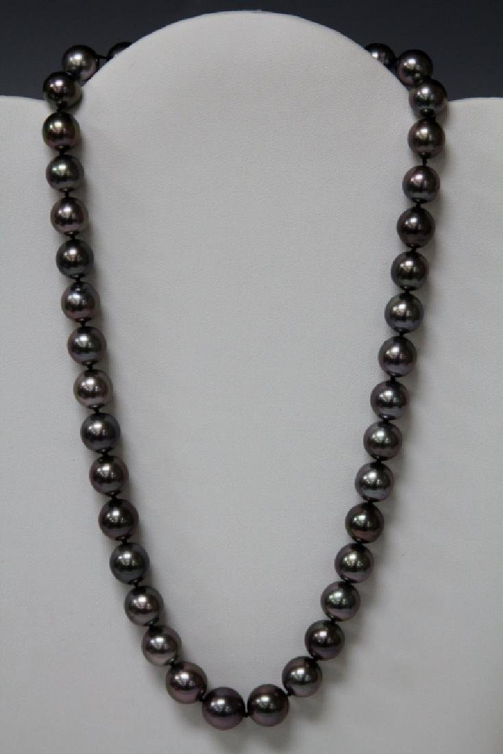 LADY'S TAHITIAN PEARL NECKLACE W/  14KT CLASP