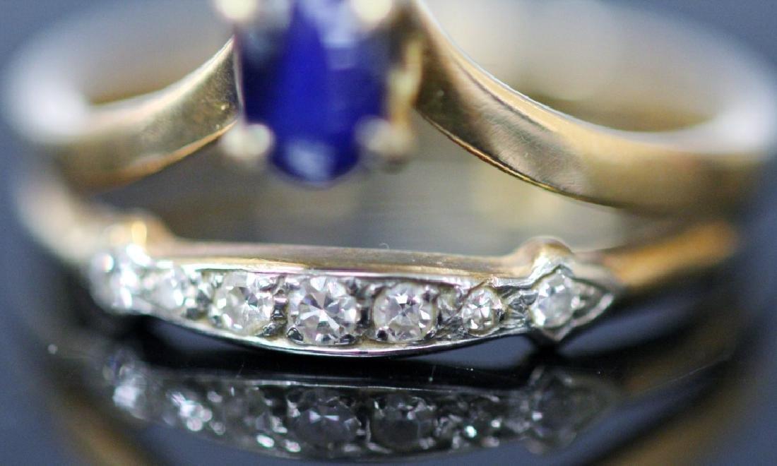 LADY'S SAPPHIRE & DIAMOND 14KT YELLOW GOLD RING - 3