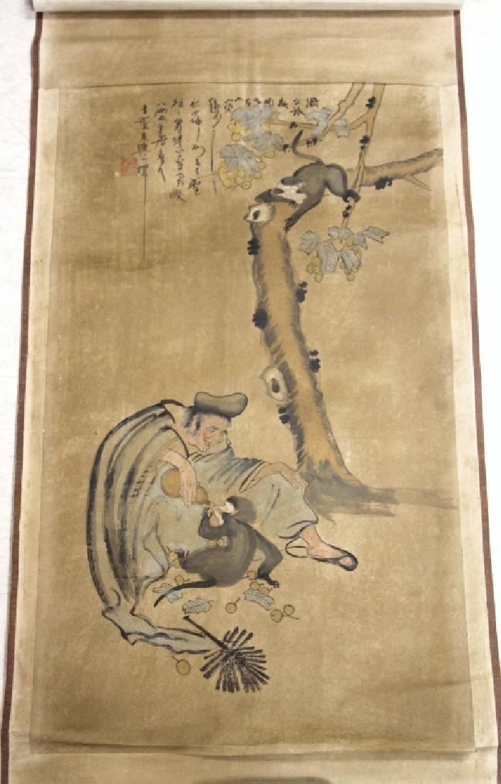 VINTAGE CHINESE SCROLL PAINTING, ARTIST SIGNED