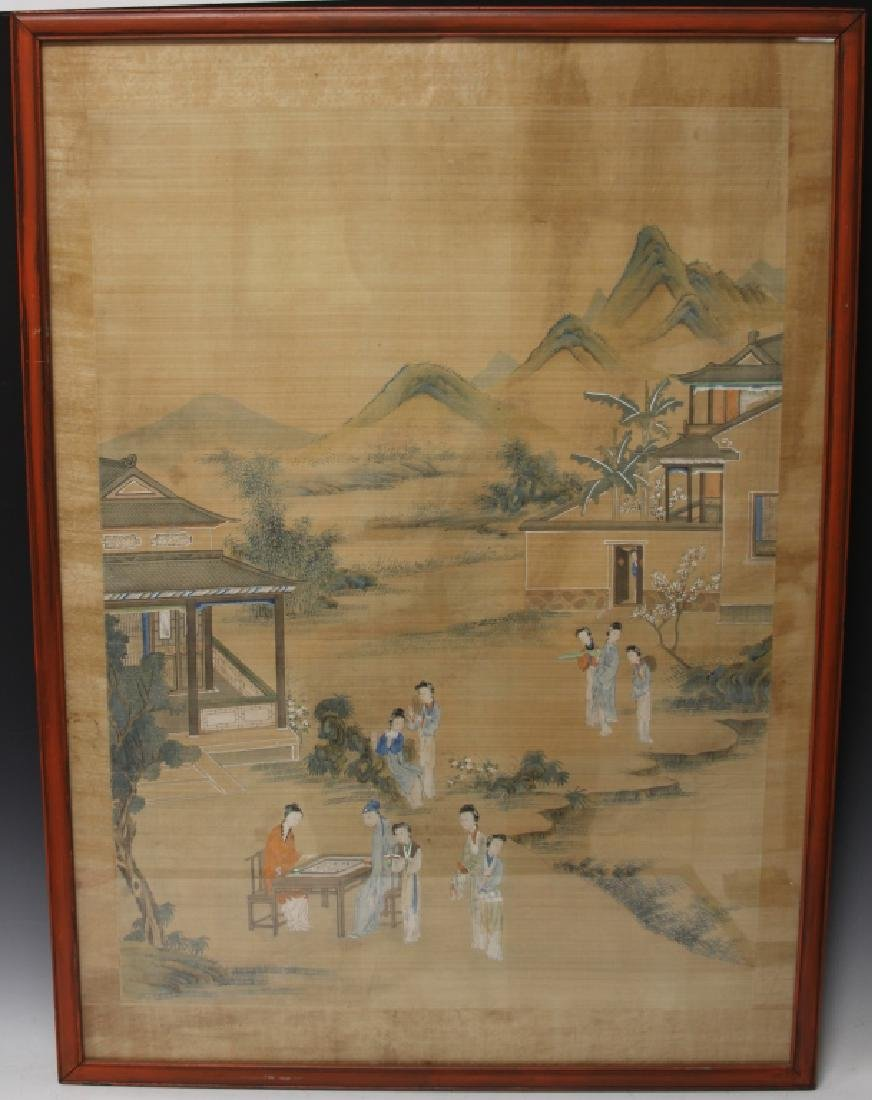 LATE 19TH C. CHINESE PAINTING ON SILK, FRAMED